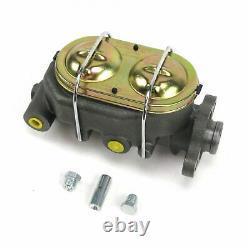 1932 Ford Manual Brake Pedal kit Drum/Drum Sm Oval Chrome Pad frame mount master
