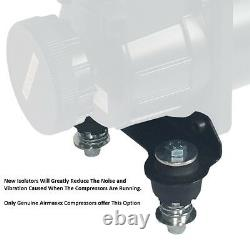 Air ride compressor mount bracket vibration isolator chrome for viair & airmaxxx