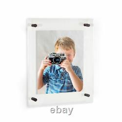 ArtToFrames Acrylic Floating Frame for Art, Photos from 4x6 to 24x36 Wall Mount