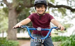BMX BIKE Kids Boys Bicycle 20 Wheels Metallic Blue Steel Frame Mountain