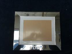 BUY DIRECT 34mm BRUSHED SILVER CHROME PHOTO/PICTURE FRAME WITH PICTURE MOUNT