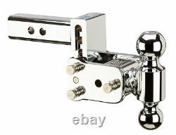 B&W Hitches TS10033C Adjustable Chrome Ball Mount with 2 x 2-5/16 Dual Ball