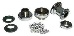Chrome FRAME CUP MOUNTING KIT Complete for Harley 45 Servi-Car 1940 1957