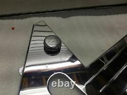 Chrome Frame Trim Cover 1977^ Harley FLH Shovelhead rt Battery Knobs Mounts New