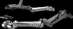 Ciro Frame Mounted Adjustable Highway Peg Mounts For 09-up Harley Touring Chrome