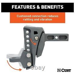Curt 45949 Rebellion XD Adjustable Cusion Hitch Ball Mount
