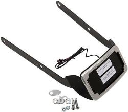 Cycle Visions CV4655 Curved Slick Signal License Plate Frame and Mount, Chro