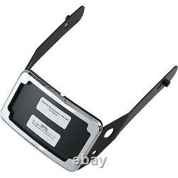 Cycle Visions CV4661 Curved License Plate Frame and Mount, Chrome Harley-Dav
