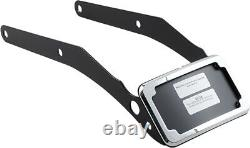 Cycle Visions CV4663 Curved License Plate Frame and Mount, Chrome