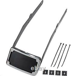 Cycle Visions CV4665 Curved License Plate Frame and Mount Chrome