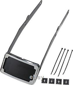 Cycle Visions CV4665 Curved License Plate Frame and Mount, Chrome