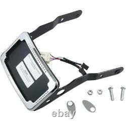 Cycle Visions CV-4652 Curved Slick Signal License Plate Frame and Mount Chrome