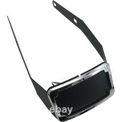 Cycle Visions Chrome Curved License Plate Frame Mount with Light Harley FLSB 18-20