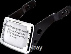 Cycle Visions Curved Slick Signal License Plate Frame and Mount Chrome #CV4650
