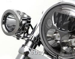 DENALI 32mm-38mm Chrome Tube Mount Kit Auxiliary Lights Frame/Forks & Crash Bars