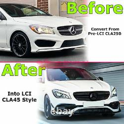 Front Bumper Cover CLA45 CLI Style For Mercedes-Benz CLA250 14-19 With Grille