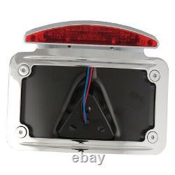 HardDrive Rear Mount Horizontal Curved License Frame, LED 7x4 Harley Davidson