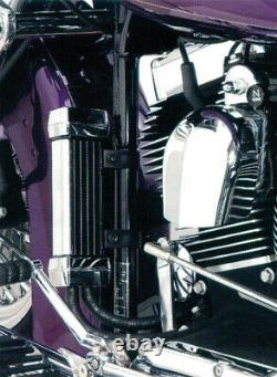 Jagg Oil Coolers Vertical Frame Mount Oil Coolers 750-1100 Chrome
