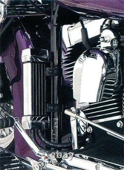Jagg Oil Coolers Vertical Frame Mount Oil Coolers Chrome 750-1100