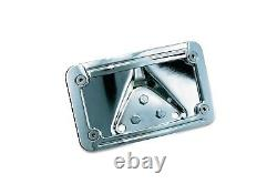 KURAKYN CHROME LED LIGHTED CURVED LAYDOWN L/PLATE MOUNT WithFRAME FOR HARLEY 3138