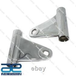 Kawasaki KH 250 Headlight Bracket Mount Fork Shrouds Pair Steel Chrome CDN