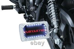 Kuryakyn 3192 Nova Side Horizontal Mount License Plate Frames Chrome