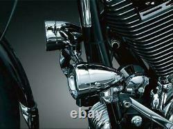 Kuryakyn 5016 Frame Mounted 1-1/8'' to 1-1/4'' 3'' Driving Lights H3 Bulbs