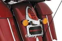 Kuryakyn 5699 LED Curved License Plate Frame with Mount Indian Chief