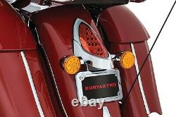 Kuryakyn 5699 L. E. D. Curved License Plate Frame with Mount, Chrome