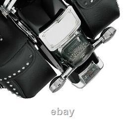 Kuryakyn 9171 Curved Laydown License Plate Mount with Frame, Chrome