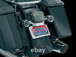 Kuryakyn CHROME Curved License Plate Mount/Frame 2006-2009 FLHX, 2009+ FLHR 3163