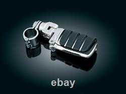 Kuryakyn Chrome 1.25 Clamp Engine Guard Frame Mount Switchblade Footpegs Harley
