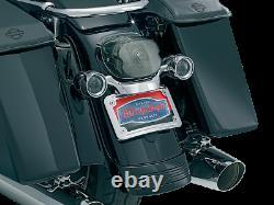 Kuryakyn Chrome Curved License Plate Mount & Frame 2006-2017 Harley Touring 3163