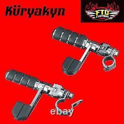 Kuryakyn Chrome Engine Guard or Frame Mount Footpegs for 1-1/4 8071