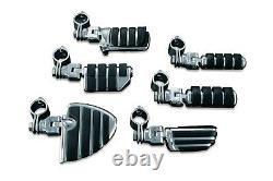 Kuryakyn Chrome Engine Guard or Frame Mount Footpegs for 1-1/4\ Bar 8033
