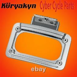 Kuryakyn Chrome LED Curved License Plate Frame With Mount 5699