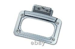 Kuryakyn Chrome L. E. D. Curved License Plate Frame WithMount Indian Chief All