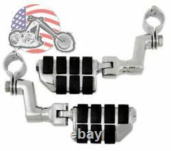 Kuryakyn Chrome Offset 1 Engine Guard Frame Mount Dually Iso Pegs Set Harley