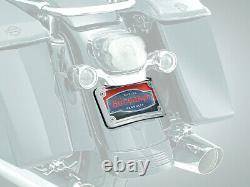 Kuryakyn Curved Laydown License Plate Mount withFrame Chrome (3163)