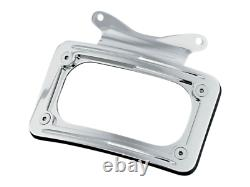Kuryakyn Curved License Plate Mount With Frame Harley 10-19 Touring FLHX 3157