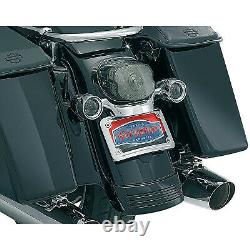 Kuryakyn Curved License Plate Mount with Frame Chrome 06-20 Harley FLHX 3163