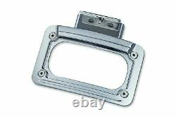 Kuryakyn LED Curved License Plate Frame with Mount Chrome 419974