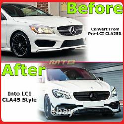 LCI CLA45 Style Front Bumper Cover Grille Kit For Mercedes Benz 2014-2019 CLA250