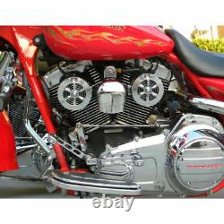 Love Jugs Polished Stainless Cool Master Harley Cooling Fans & WC Frame Mount