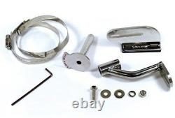 Love Jugs Polished Stainless Cool-Master Harley Cooling Fans & WC Frame Mount +