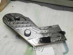 NOS Vintage Chrome Frame battery Side Cover Trim Harley FLH Shovelhead Old Schoo