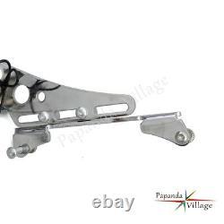 Side Mount License Plate Frame Bracket withLED Tail Light For Harley XL1200 04-17