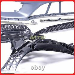 Sport Style Kit Bumper Cover Lower Grille For Mercedes W212 2014-2016 E Class