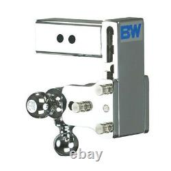 Tow & Stow Chrome Tri-Ball Ball Mount For 2-1/2 Inch Receivers (20048C)