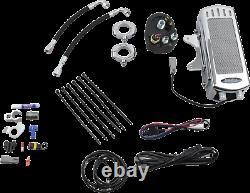 ULTRACOOL Chrome Frame Mount Side Mount Vertical Oil Cooler Kits SMD-1C